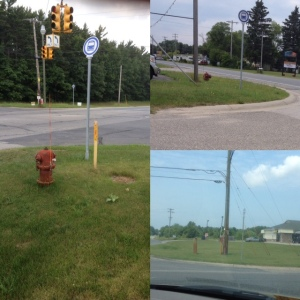 Three inaccessible bus stops in Muskegon County