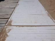 Old panels still comprise the majority of the Boardwalk