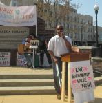 Frank Minor speaks at the Rally for Disability Pride